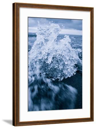 Ice Splash, Jökulsárlón Glacier Lagoon, Southern Iceland-Vincent James-Framed Photographic Print