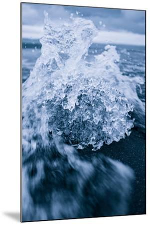 Ice Splash, Jökulsárlón Glacier Lagoon, Southern Iceland-Vincent James-Mounted Photographic Print