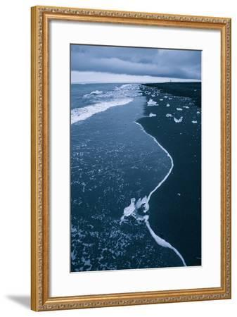 Walking the Ice Beach, Jökulsárlón Glacier Lagoon, Southern Iceland-Vincent James-Framed Photographic Print