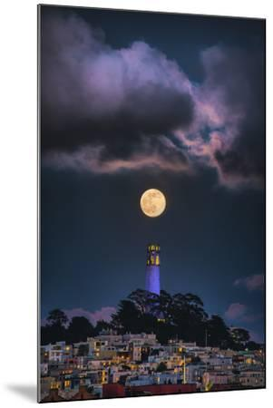 Full Moon Mood Coit Tower, San Francisco Iconic Travel-Vincent James-Mounted Photographic Print