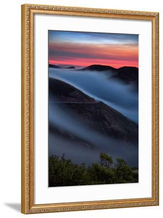 Morning Sunrise Fog Sweep, Marin Headlands, Northern California-Vincent James-Framed Photographic Print