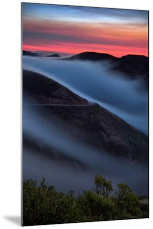 Morning Sunrise Fog Sweep, Marin Headlands, Northern California-Vincent James-Mounted Photographic Print