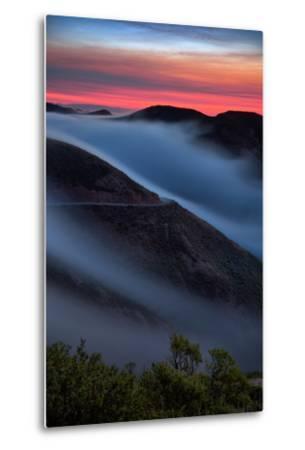 Morning Sunrise Fog Sweep, Marin Headlands, Northern California-Vincent James-Metal Print