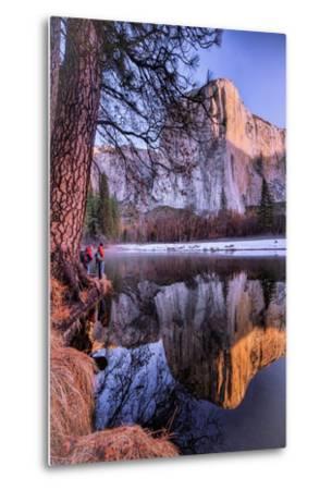 El Capitan Riverside Reflections, Yosemite National Park-Vincent James-Metal Print