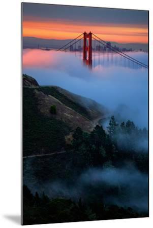 Dreamy Golden Sunrise and Fog, Golden Gate Bridge, San Francisco-Vincent James-Mounted Photographic Print