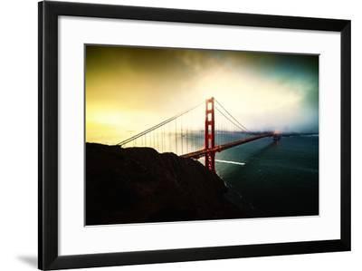 Stormy Sunday, Golden Gate Bridge, San Francisco-Vincent James-Framed Photographic Print