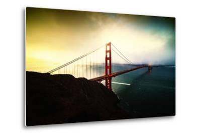 Stormy Sunday, Golden Gate Bridge, San Francisco-Vincent James-Metal Print