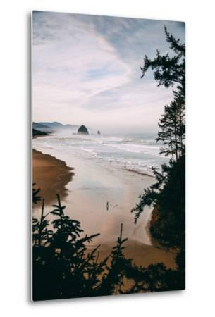 Morning Walk at Cannon Beach, Peaceful Oregon Coast-Vincent James-Metal Print