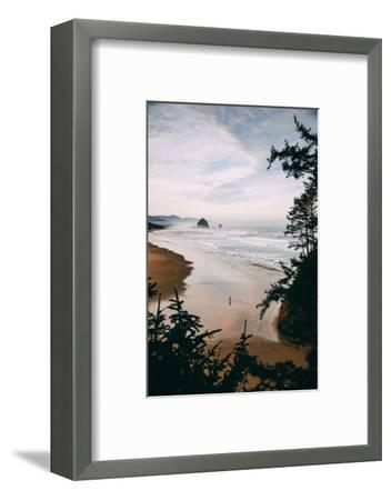 Morning Walk at Cannon Beach, Peaceful Oregon Coast-Vincent James-Framed Photographic Print