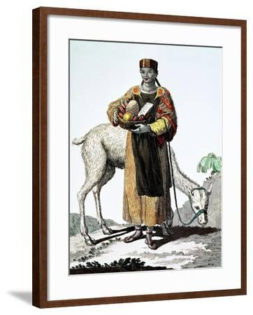 India Del Perú, Colección de Trajes, 1777, Grabado, Colección Privada, Francia-Juan de la Cruz Cano y Olmedilla-Framed Giclee Print