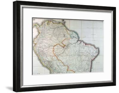 Mapa Geografico de America Meridional, 1799-Juan de la Cruz Cano y Olmedilla-Framed Giclee Print