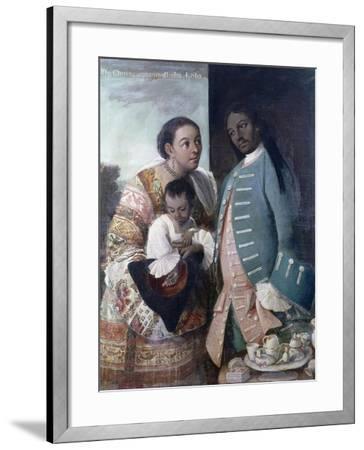 Mestizaje: de Chino Cambujo E India: Loba, 1763, Museo de América, Madrid-Miguel Cabrera-Framed Giclee Print