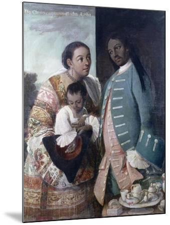 Mestizaje: de Chino Cambujo E India: Loba, 1763, Museo de América, Madrid-Miguel Cabrera-Mounted Giclee Print