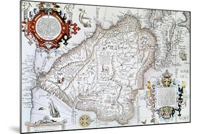 Map of South America, Private Collection, Madrid, Spain--Mounted Giclee Print