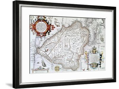 Map of South America, Private Collection, Madrid, Spain--Framed Giclee Print