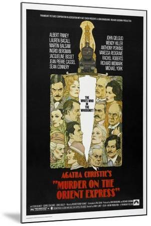 Murder on the Orient Express, 1974--Mounted Giclee Print