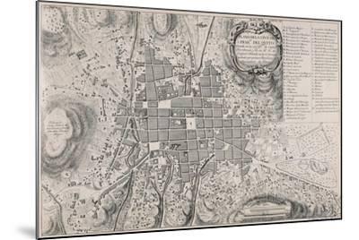 Map of San Francisco de Quito, 18th Century-Antonio Ulloa-Mounted Giclee Print