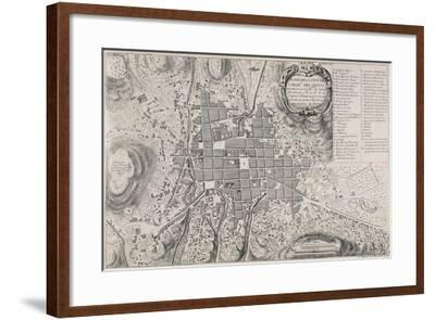 Map of San Francisco de Quito, 18th Century-Antonio Ulloa-Framed Giclee Print
