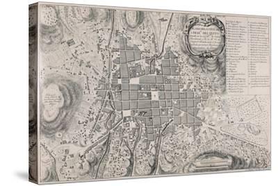 Map of San Francisco de Quito, 18th Century-Antonio Ulloa-Stretched Canvas Print