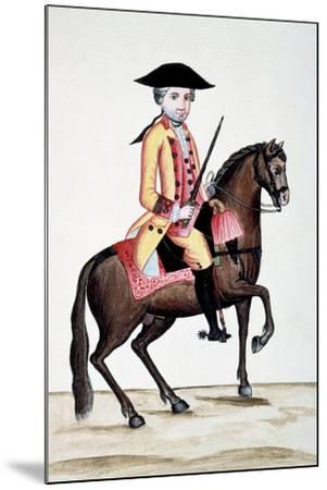 Codice Trujillo Del Perú. T.I. Personaje a Caballo, Palacio Real, Madrid-Baltasar Jaime Martínez Compañón-Mounted Giclee Print