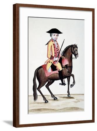 Codice Trujillo Del Perú. T.I. Personaje a Caballo, Palacio Real, Madrid-Baltasar Jaime Martínez Compañón-Framed Giclee Print