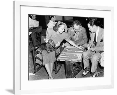Frank Borzage, Robert Young, Joan Crawford, the Shining Hour, 1938--Framed Photographic Print