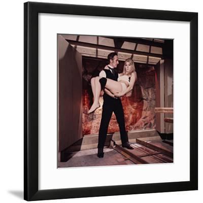 Peter Cushing, Susan Denberg, Frankenstein Created Woman, 1967--Framed Photographic Print