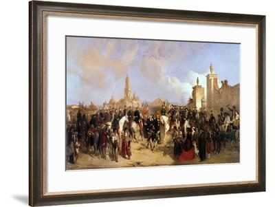 Entrance of the French Expeditionary Corps into Mexico City,1863-Jean Adolphe Beauce-Framed Giclee Print