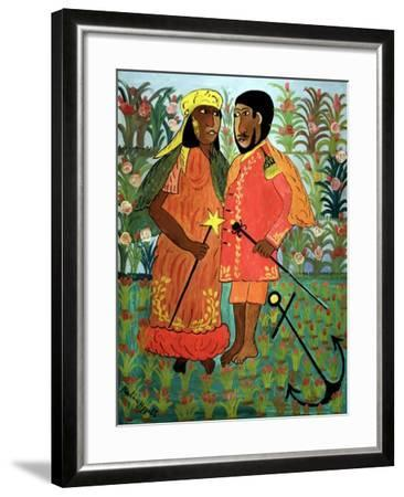 Ague y Su Consorte, 1945-Hector Hippolite-Framed Giclee Print