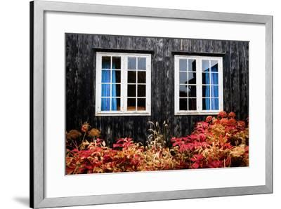 The Blue Curtains-Philippe Sainte-Laudy-Framed Photographic Print