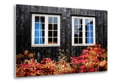 The Blue Curtains-Philippe Sainte-Laudy-Metal Print