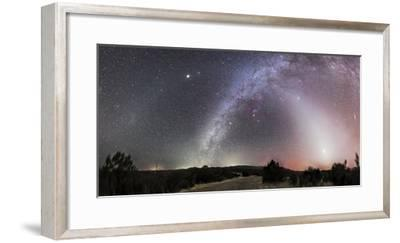 Milky Way, Zodiacal Light and Other Celestial Objects, Gila National Wilderness, New Mexico-Stocktrek Images-Framed Photographic Print