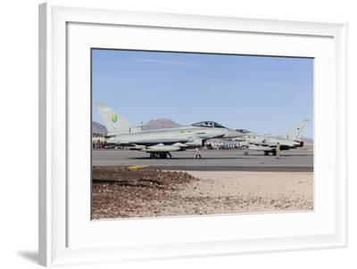 Two Royal Air Force Typhoon Fighters on the Ramp at Nellis Air Force Base, Nevada-Stocktrek Images-Framed Photographic Print