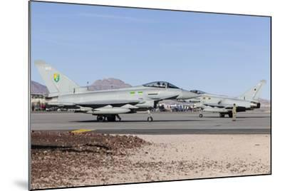Two Royal Air Force Typhoon Fighters on the Ramp at Nellis Air Force Base, Nevada-Stocktrek Images-Mounted Photographic Print