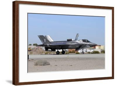 An F-35B Lightning Ii Landing at Marine Corps Air Station Yuma, Arizona-Stocktrek Images-Framed Photographic Print