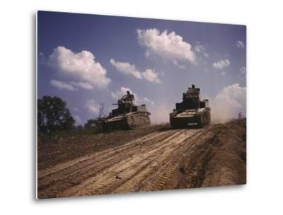June 1942 - M3 Stuart Light Tanks at Fort Knox, Kentucky-Stocktrek Images-Metal Print