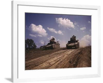 June 1942 - M3 Stuart Light Tanks at Fort Knox, Kentucky-Stocktrek Images-Framed Photographic Print