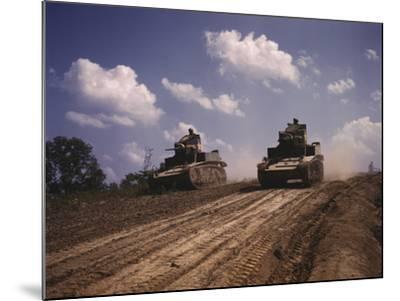 June 1942 - M3 Stuart Light Tanks at Fort Knox, Kentucky-Stocktrek Images-Mounted Photographic Print