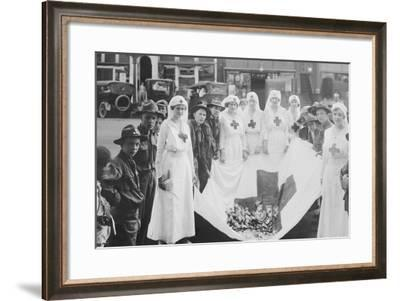 American Red Cross Workers During a Red Cross Parade-Stocktrek Images-Framed Photographic Print