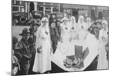American Red Cross Workers During a Red Cross Parade-Stocktrek Images-Mounted Photographic Print