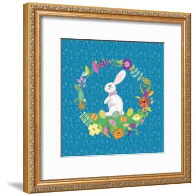 Bunny Wreath II-Chariklia Zarris-Framed Art Print