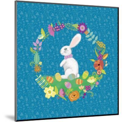 Bunny Wreath II-Chariklia Zarris-Mounted Art Print