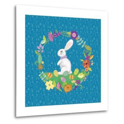 Bunny Wreath II-Chariklia Zarris-Metal Print