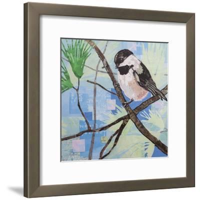 Chickadee Collage II-Alyson Champ-Framed Art Print