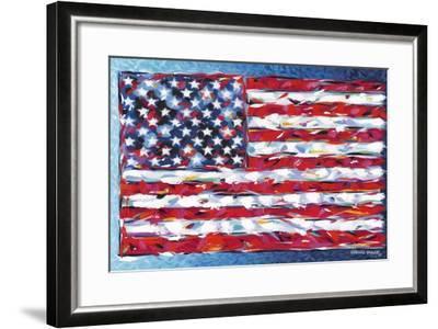 Vibrant Stars and Stripes-Carolee Vitaletti-Framed Art Print