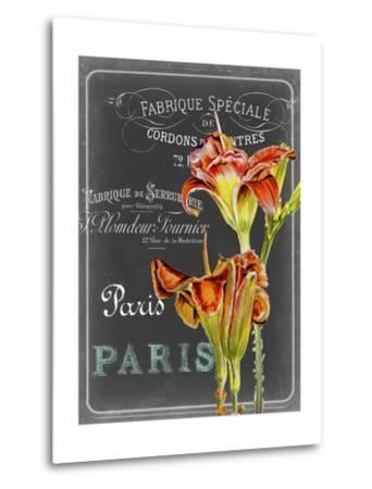 Chalkboard Fleurs II-Redstreake-Metal Print