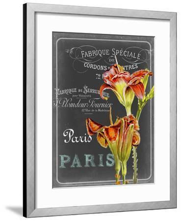 Chalkboard Fleurs II-Redstreake-Framed Art Print