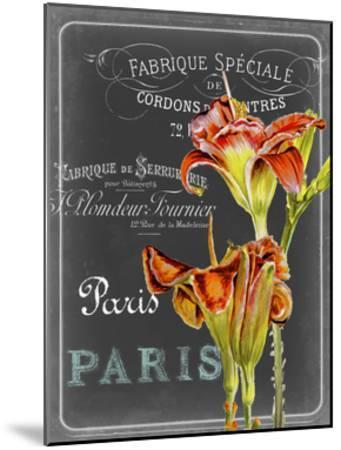 Chalkboard Fleurs II-Redstreake-Mounted Art Print