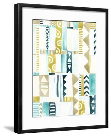 Tribal Patchwork II-June Vess-Framed Art Print