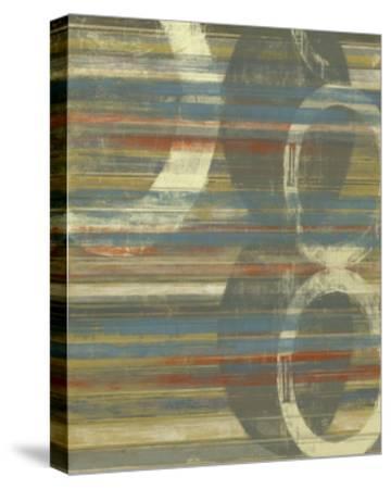 Textured Orbs I-Jennifer Goldberger-Stretched Canvas Print